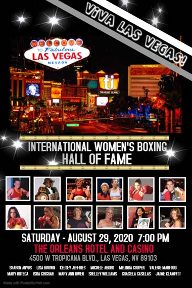 Las Vegas August 2020 Events.2020 International Women S Boxing Hall Of Fame Inductees